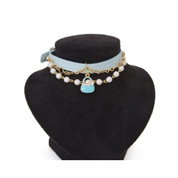 Collier midnight Party Bleu