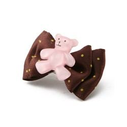 Smile Bear Hair Pin marron